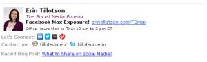 social media email signature