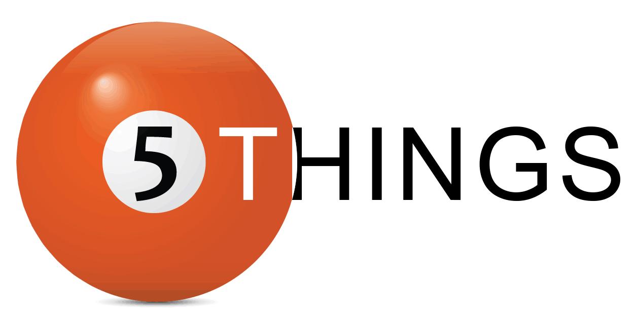5 things I do every Friday
